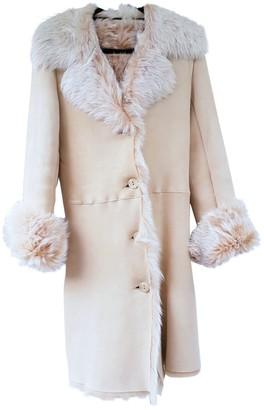 Harrods Beige Shearling Coat for Women