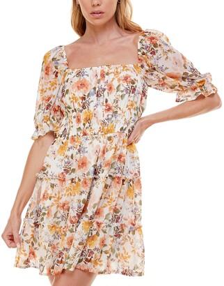 Trixxi Juniors' Tiered Fit & Flare Dress