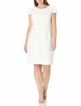 Betsey Johnson Women's Size Embossed Midi Dress (Plus)