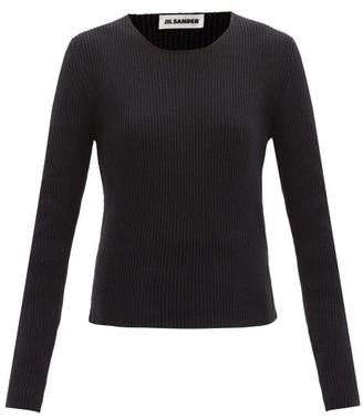 Jil Sander Ribbed Cotton-blend Sweater - Navy