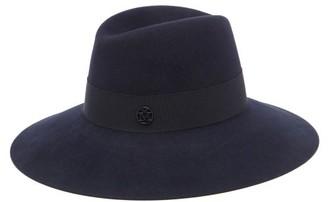 Maison Michel Kate Felt Fedora Hat - Navy