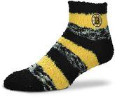 For Bare Feet Women's Boston Bruins Pro Stripe Slipper Socks