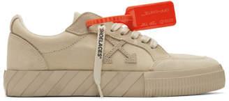 Off-White Beige Vulcanized Low Sneakers