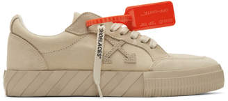 Off-White Off White Beige Vulcanized Low Sneakers