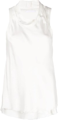 Helmut Lang Layered Fitted Tank Top