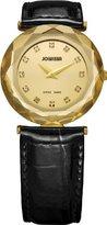 Jowissa Women's J1.032.M Safira 99 Gold PVD Faceted Sapphire Bezel Gold Dial Watch