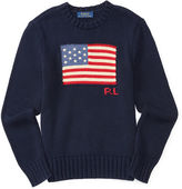Ralph Lauren Flag Combed Cotton Sweater