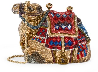 Judith Leiber Gobi Camel Clutch Bag