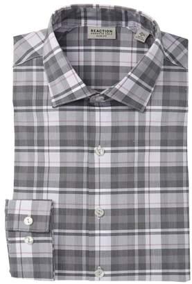 Kenneth Cole Reaction Slim Fit Plaid Dress Shirt