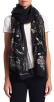 Alexander McQueen Ruby Rock Fil Coupe Scarf
