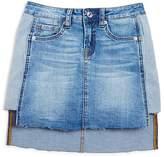 7 For All Mankind Girls' Frayed Denim Skirt - Big Kid