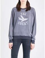 The Great Ladies Printed Vintage Logo-Print Cotton-Blend Sweatshirt