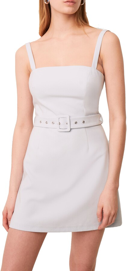 French Connection Belted Straight Neck Dress