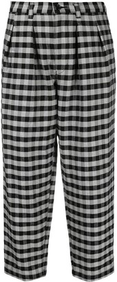 Comme des Garcons Gingham Cropped Trousers