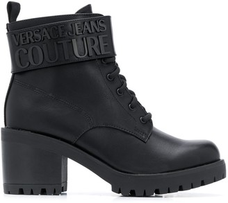 Versace Chunky Heel Ankle Boots