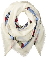 Tory Burch Printed T-Logo Square Scarf Scarves
