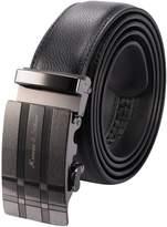 K&S KS Men's Modern Genuine Leather Belt Sliding Automatic Lock Alloy Buckle KB053