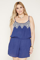 Forever 21 FOREVER 21+ Plus Size Embroider Cami Romper
