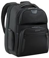 Briggs & Riley Men's 'Large' Ballistic Nylon Clamshell Backpack - Black