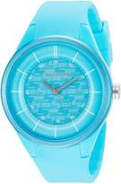 Skechers Women's 'Basic Strap' Quartz Plastic and Silicone Casual Watch, Color:Blue (Model: SR6114)