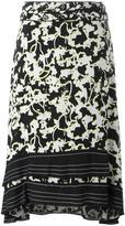 Proenza Schouler double vine print skirt - women - Silk/Spandex/Elastane/Acetate/Viscose - 6