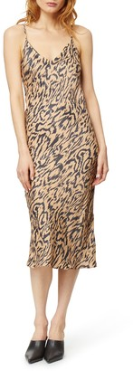 Habitual Sutton Animal Print Satin Midi Dress