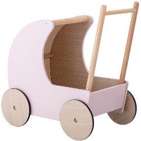 Bloomingville - Pink Rubber Wood and MDF Toy Stroller - pink | rubber wood and MDF - Pink/Pink