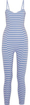 Lisa Marie Fernandez Genevieve Striped Stretch-Jersey Jumpsuit