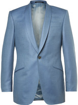 Richard James - Blue Slim-fit Super 130s Silk And Wool-blend Jacquard Suit Jacket