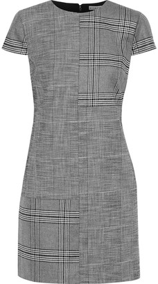 Alice + Olivia Coley Paneled Prince Of Wales Checked Woven Mini Dress