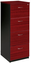 Filing Cabinet with 4 File Drawer Colour: Redwood / Iron Grey
