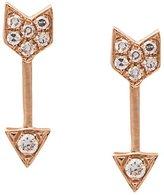 Ef Collection mini arrow diamond stud earrings