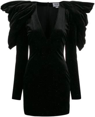 Redemption structured shoulders mini dress