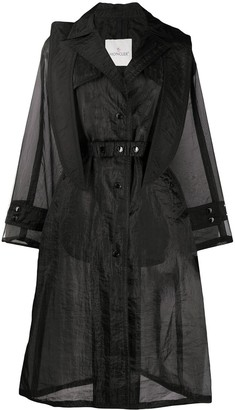 Moncler Sheer Mid-Length Coat