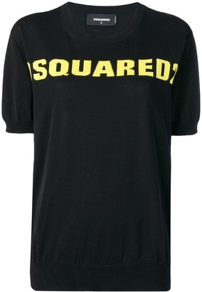 DSQUARED2 logo knit top