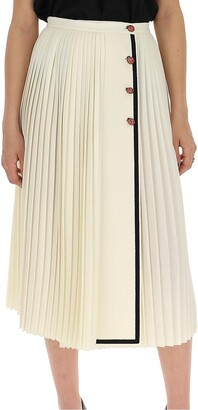 Gucci Pleated Contrast Trim Skirt