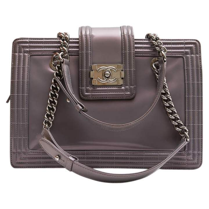 Chanel Boy patent leather tote