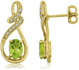 JCPenney FINE JEWELRY Oval Genuine Peridot and Lab-Created White Sapphire Infinity Earrings