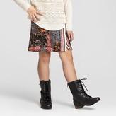 Xhilaration Girls' Skirt with Fringe Black/Orange