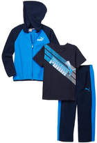Puma Hooded Jacket, Short Sleeve Tee & Pants Set (Toddler Boys)