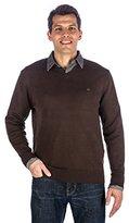 Noble Mount Men's 100% Cotton V-Neck Essential Sweater