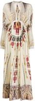 Etro V-neck printed silk dress