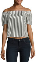 Design Lab Lord & Taylor Striped Off-the-Shoulder Top