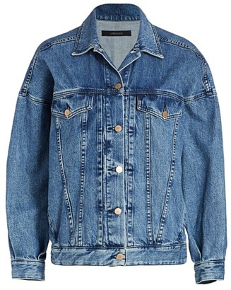 J Brand Drew Oversized Denim Trucker Jacket