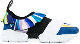 Emilio Pucci strap trainers - women - Silk/Calf Leather/Polyamide/rubber - 36