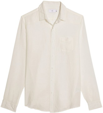Onia Abe Linen Blend Button-Up Shirt