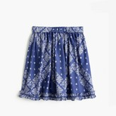 J.Crew Girls' pull-on ruffle skirt in bandana print