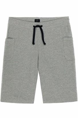 Melange Home JP 1880 Men's Big & Tall Knit Cargo Shorts Grey Large 720227 14-L