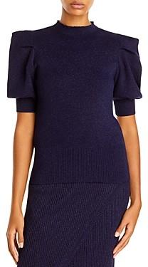 Aqua Puff Sleeve Knit Top - 100% Exclusive