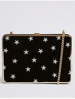 M&S Collection Velvet Star Clutch Bag